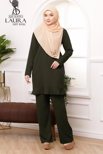 Laura Suit Basic Army Green