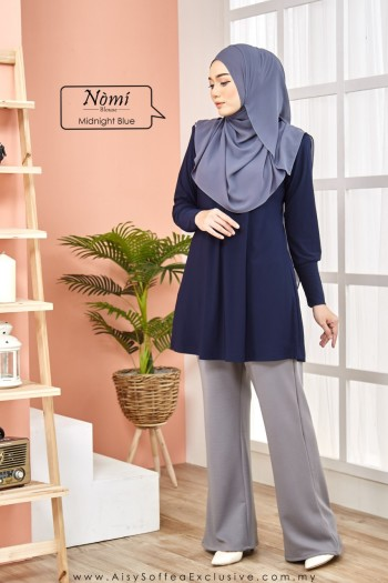 Nomi Blouse Midnight Blue
