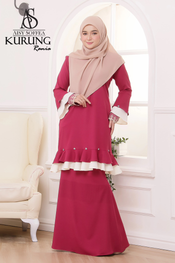 Rania Kurung Fuchsia Pink