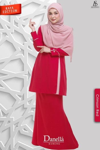 Danella Kurung Crimson Red