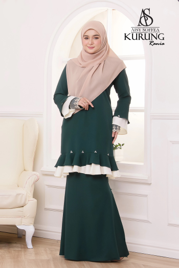 Rania Kurung Dark Green