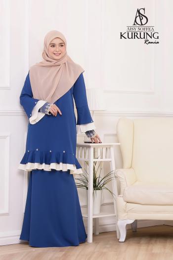 Rania Kurung Royal Blue