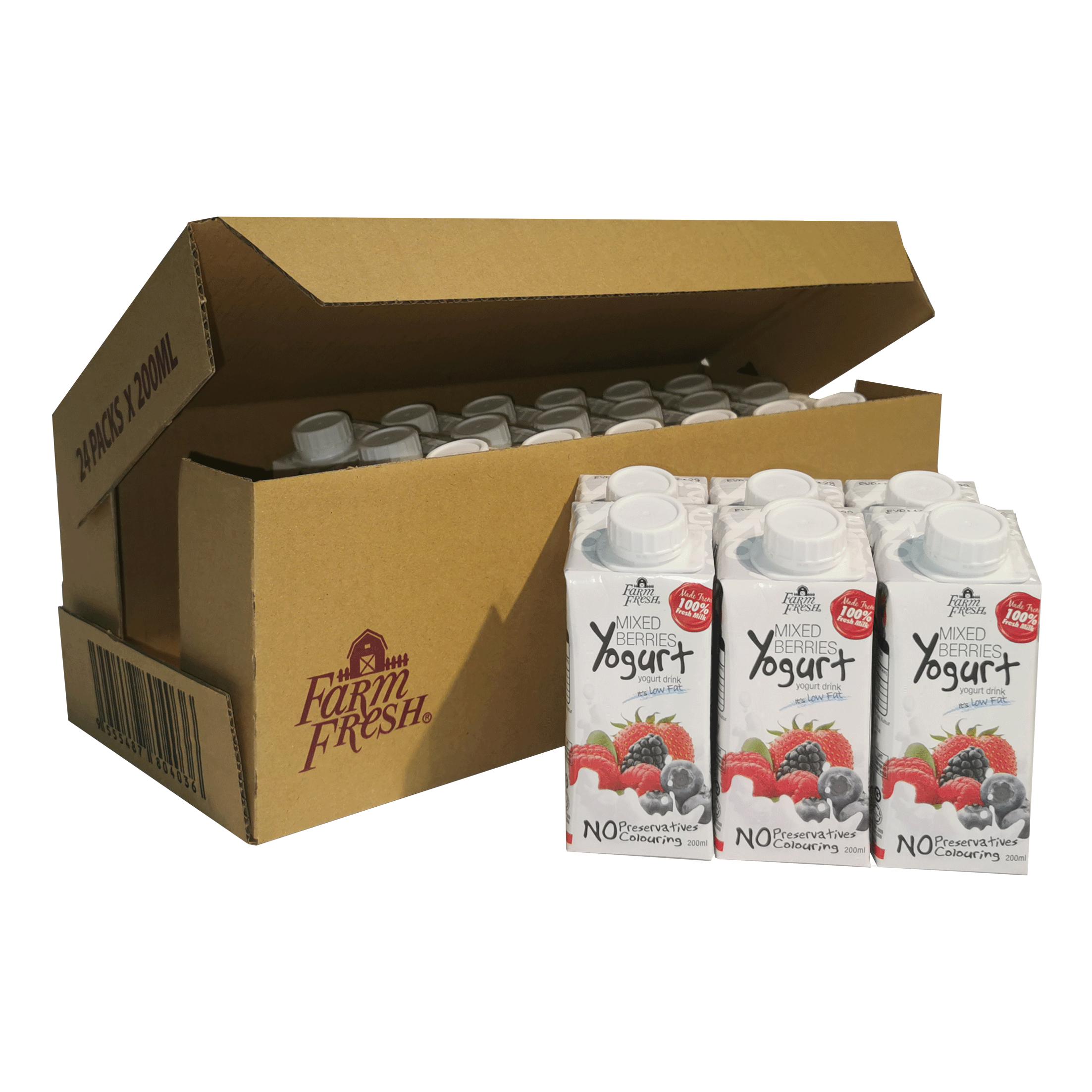 Farm Fresh Yogurt Drink Mixed Berries 200 ml x 24 pks