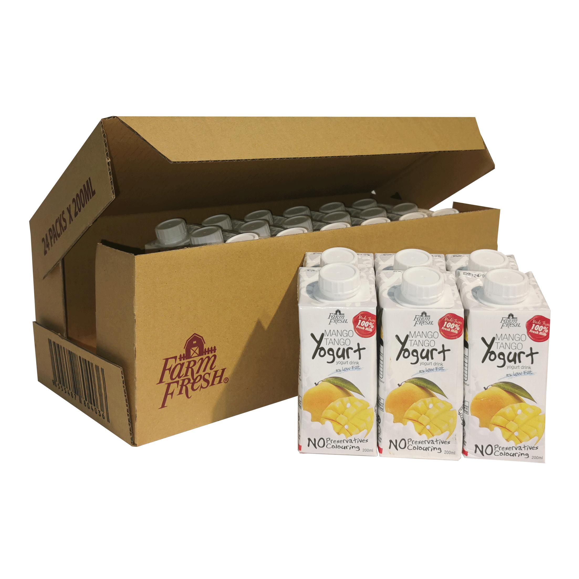 Farm Fresh Yogurt Drink Mango Tango 200 ml x 24 pks