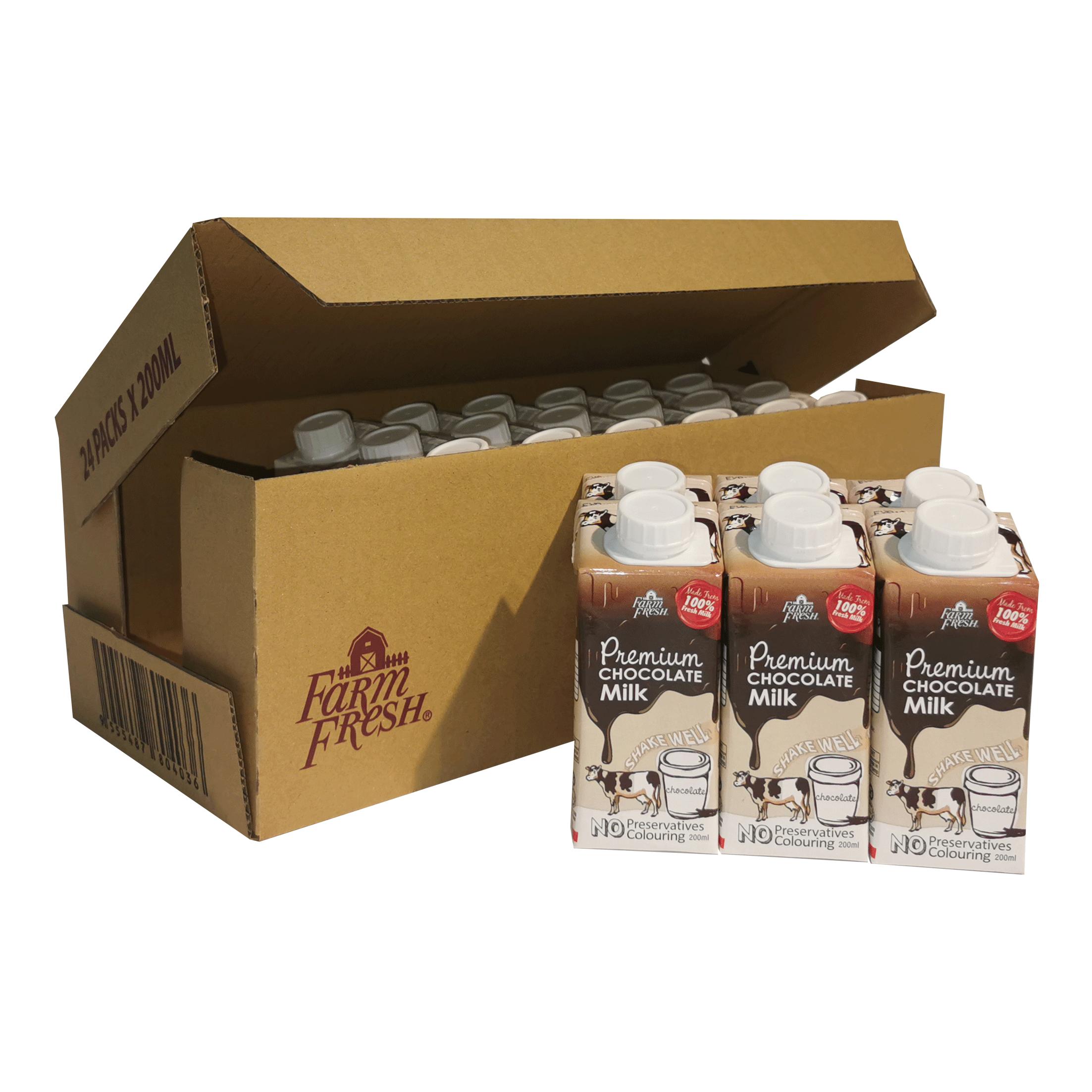 Farm Fresh Chocolate Milk 200 ml x 24 pks