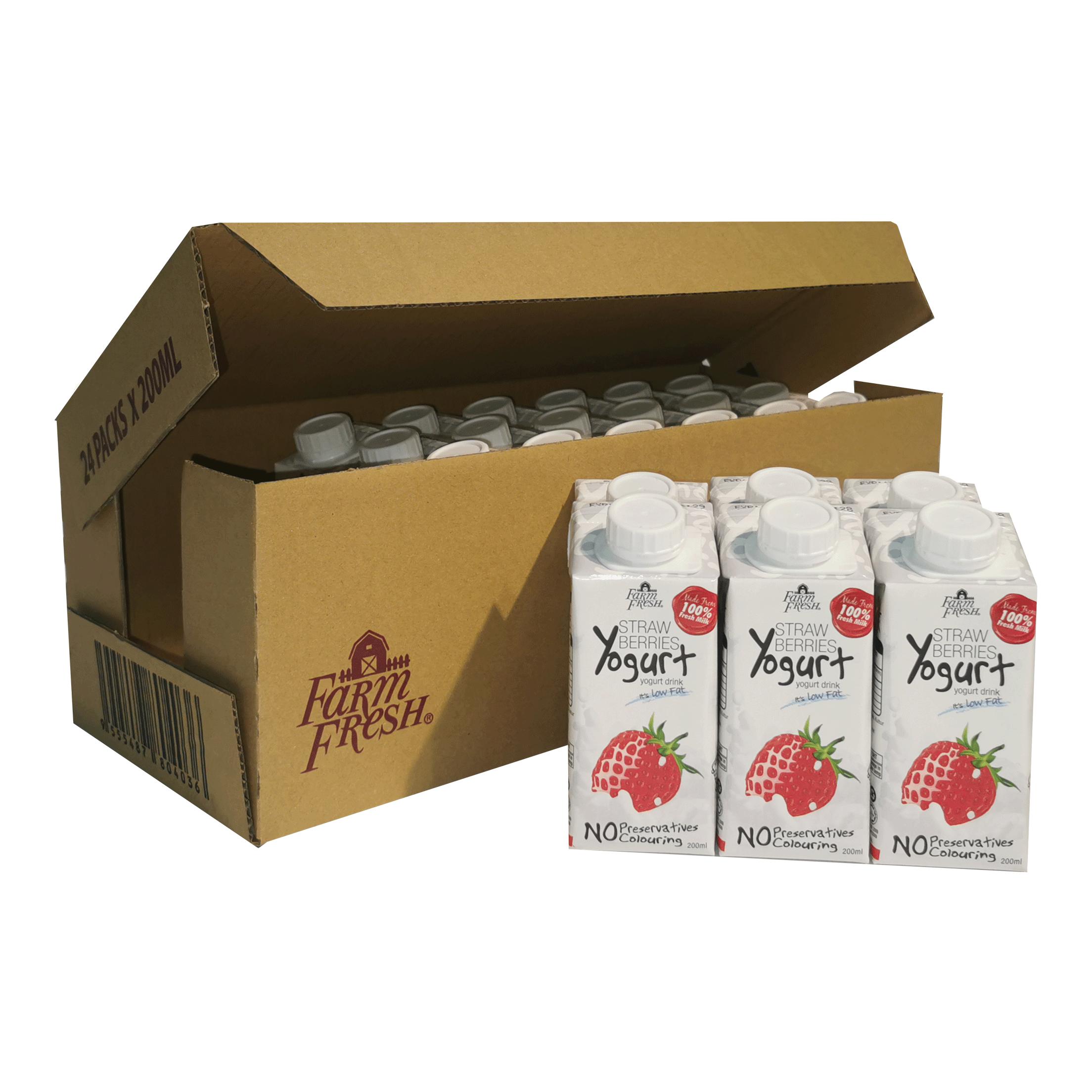 Farm Fresh Yogurt Drink Strawberries 200 ml x 24 packs