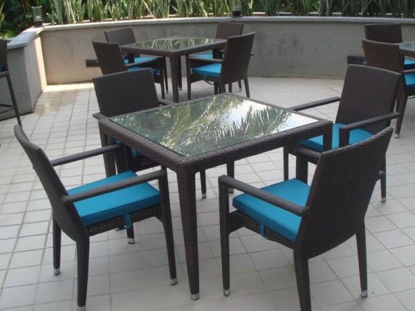 HAWAII GLASSTOP TABLE L180 - HORESTCO