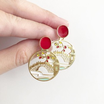 Mid Autumn Blessings Bamboo Garden Earrings - Diary of a Miniature Enthusiast