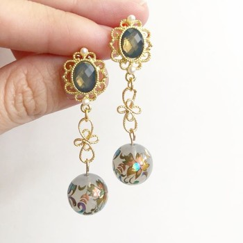 Mystic Swirls Opal Twist earrings - Diary of a Miniature Enthusiast