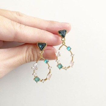 Precious Raindrop in Nature Earrings - Diary of a Miniature Enthusiast