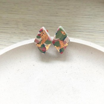 Wild Garden Camouflage Oval Dangle Earrings - Diary of a Miniature Enthusiast