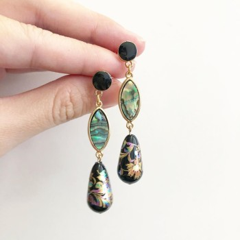 Mystic Swirls II Link Earrings - Diary of a Miniature Enthusiast