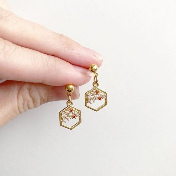 Precious Blush Drop Earrings (Cubic Zirconia charms) - Diary of a Miniature Enthusiast