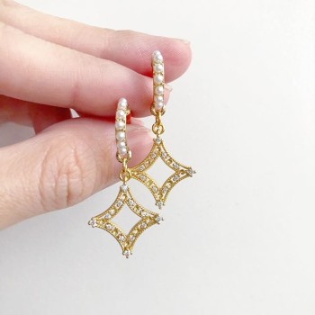 Purity Triple Diamond Earrings - Diary of a Miniature Enthusiast