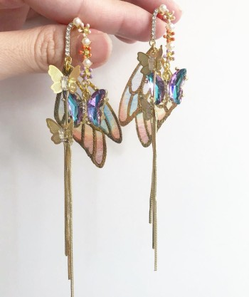 Garden Butterfly Homecoming Earrings - Diary of a Miniature Enthusiast