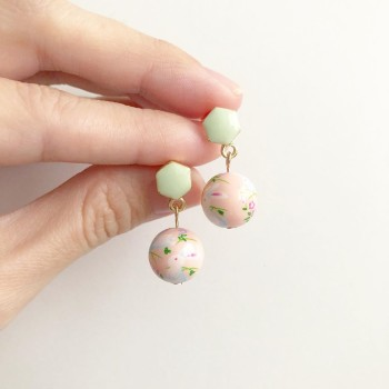 Blush Bunny Floral Earrings - Diary of a Miniature Enthusiast