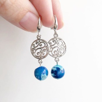 Blue Sky Plain Silver Stud Earrings - Diary of a Miniature Enthusiast