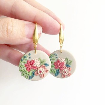 Wild Garden Blooms 25mm Dangle Earrings - Diary of a Miniature Enthusiast