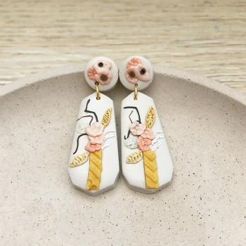 Ikebana Long Geometric Dangle Earrings - Diary of a Miniature Enthusiast