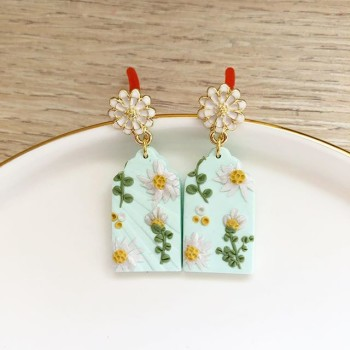 Night Chamomile Fields Victoria Window Arch Earrings - Diary of a Miniature Enthusiast