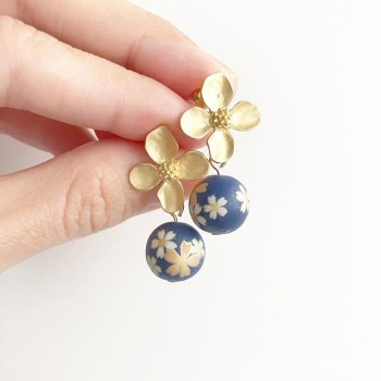Navy Sakura Necklace - Diary of a Miniature Enthusiast