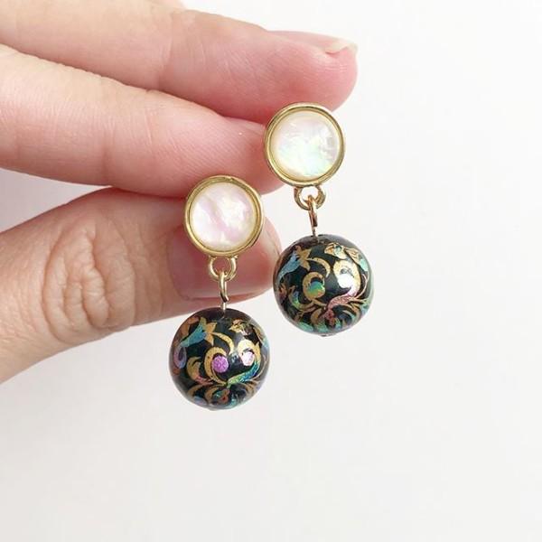 Mystic Swirls in Black Tensha Earrings - Diary of a Miniature Enthusiast