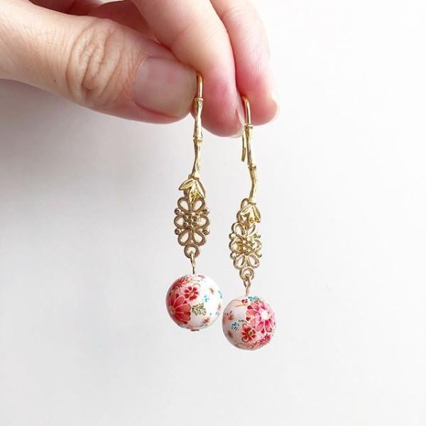 Tranquil Sakura Earrings (new hook design) - Diary of a Miniature Enthusiast