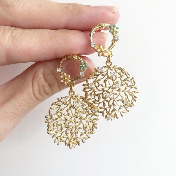 Garden Butterfly Branched Earrings - Diary of a Miniature Enthusiast