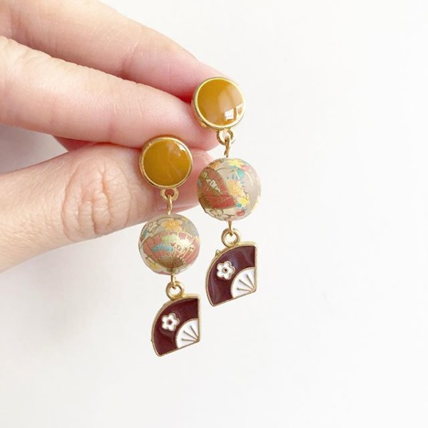 Yellow and Brown Earrings - Diary of a Miniature Enthusiast