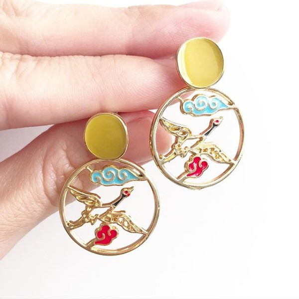 Heavenly Phoenix Earrings - Diary of a Miniature Enthusiast
