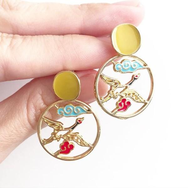 Heavenly Phoenix Earrings - Diary of a Miniature Enthusiast