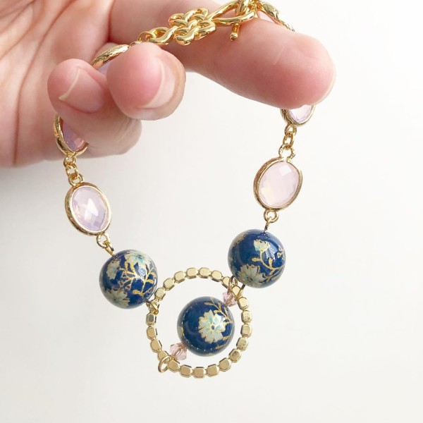 Navy Daffodils Exquisite Blush Bracelet - Diary of a Miniature Enthusiast