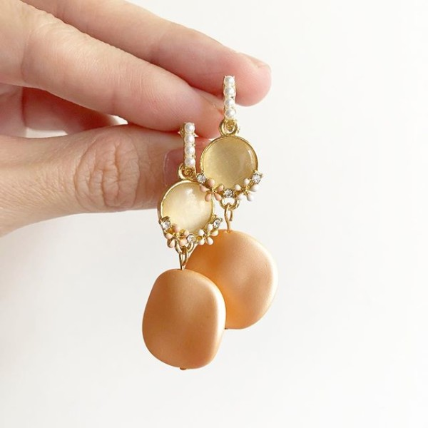 Pink and Gold Earrings - Diary of a Miniature Enthusiast
