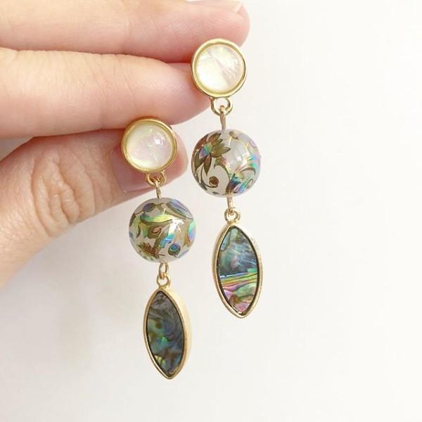 Mystic Swirls Opal Dangle Earrings - Diary of a Miniature Enthusiast