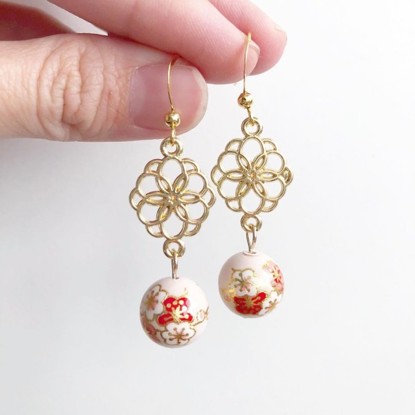 Pale Blush Plum Blossoms Floral Hooks - Diary of a Miniature Enthusiast