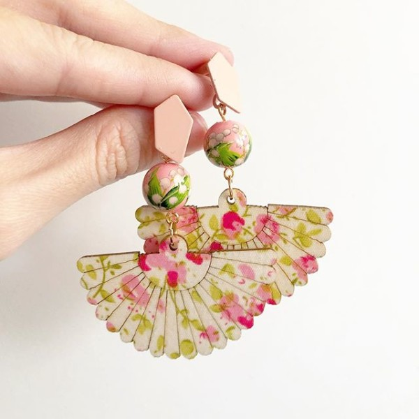 Green and Pink Earrings - Diary of a Miniature Enthusiast