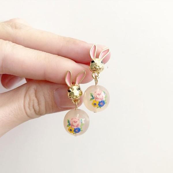 Opaline Blooms Tensha Bunny Earrings - Diary of a Miniature Enthusiast