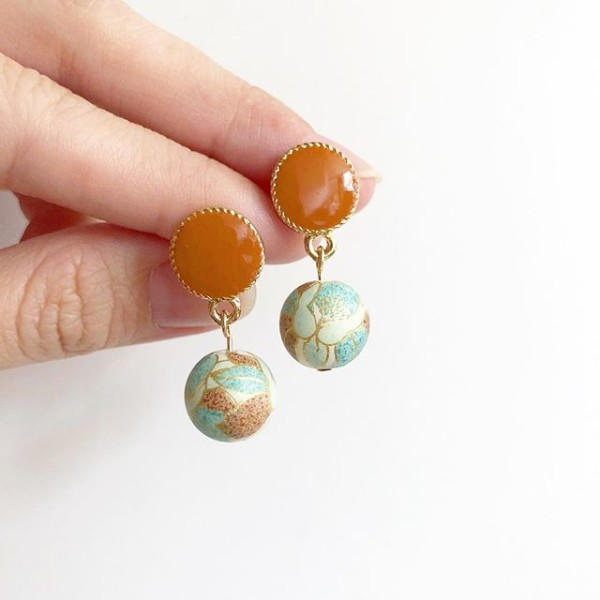 Mint and Brown Tensha Earrings  - Diary of a Miniature Enthusiast