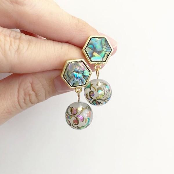 Mystic Swirls Opal Tensha Earrings - Diary of a Miniature Enthusiast