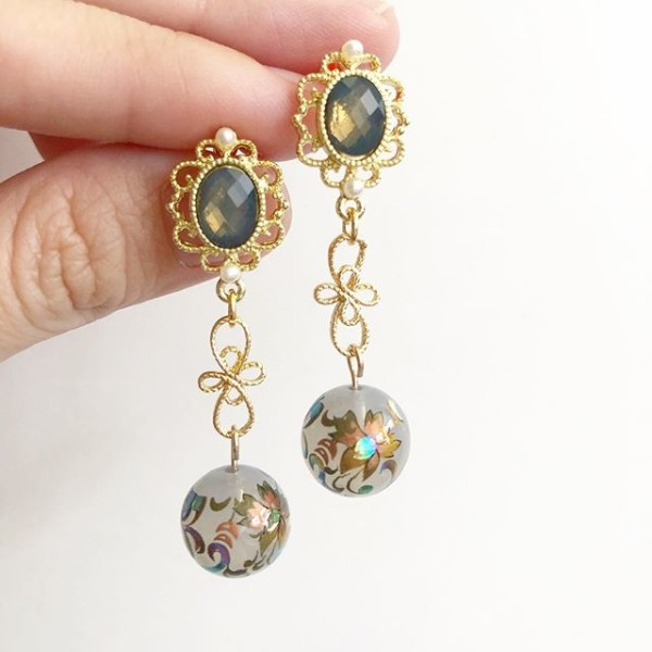 Mystic Swirls Opal Victorian Earrings - Diary of a Miniature Enthusiast