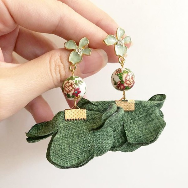 Vintage Rose Flare Floral Earrings - Diary of a Miniature Enthusiast