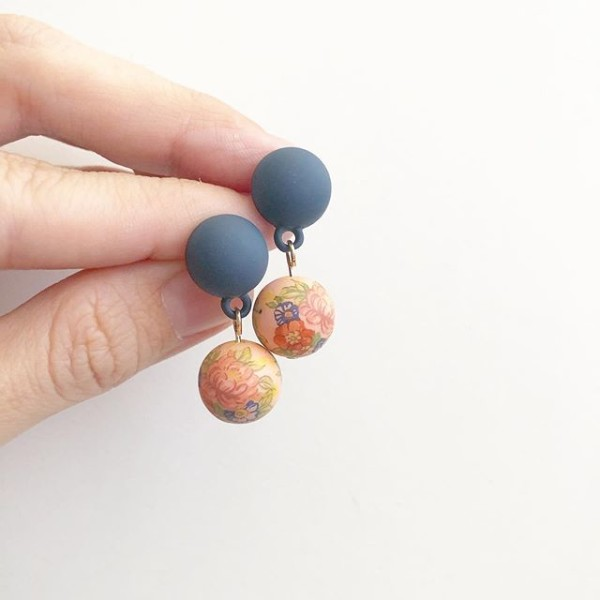 Sketch a Floral Bouquet Earrings - Diary of a Miniature Enthusiast