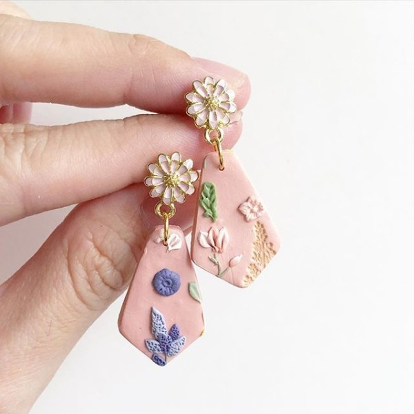 Spring Gardens Drop Earrings - Diary of a Miniature Enthusiast