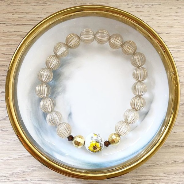 Yellow Floral Bracelet - Diary of a Miniature Enthusiast