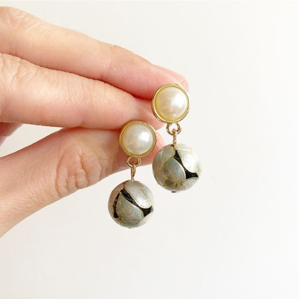 Pearl and Silver Earrings - Diary of a Miniature Enthusiast
