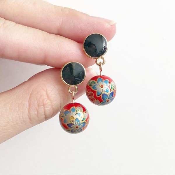 Bellflowers in Res Tensha Earrings - Diary of a Miniature Enthusiast