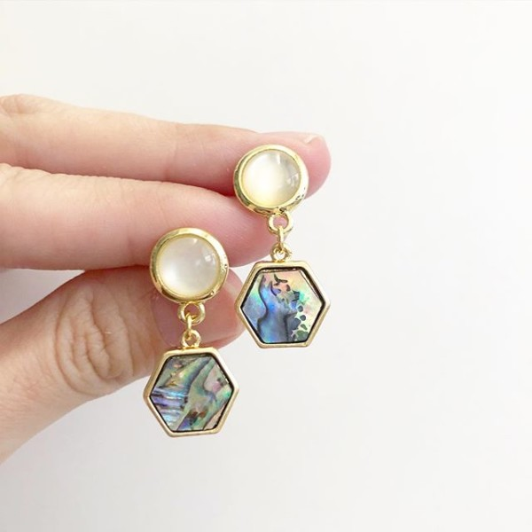 Mystic Swirls Opal Earrings - Diary of a Miniature Enthusiast