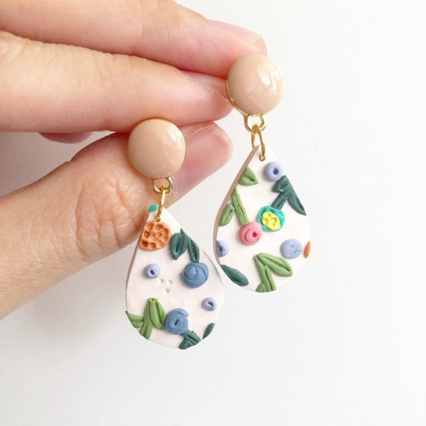 The Spring Gardens Teardrop Earrings - Diary of a Miniature Enthusiast