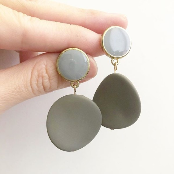 Matte Pastel Brown Twisted Coin Earrings - Diary of a Miniature Enthusiast