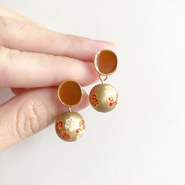 Matte Gold Sakura Earrings - Diary of a Miniature Enthusiast